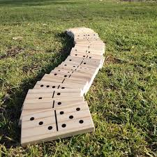 Giant wooden Dominoes photo