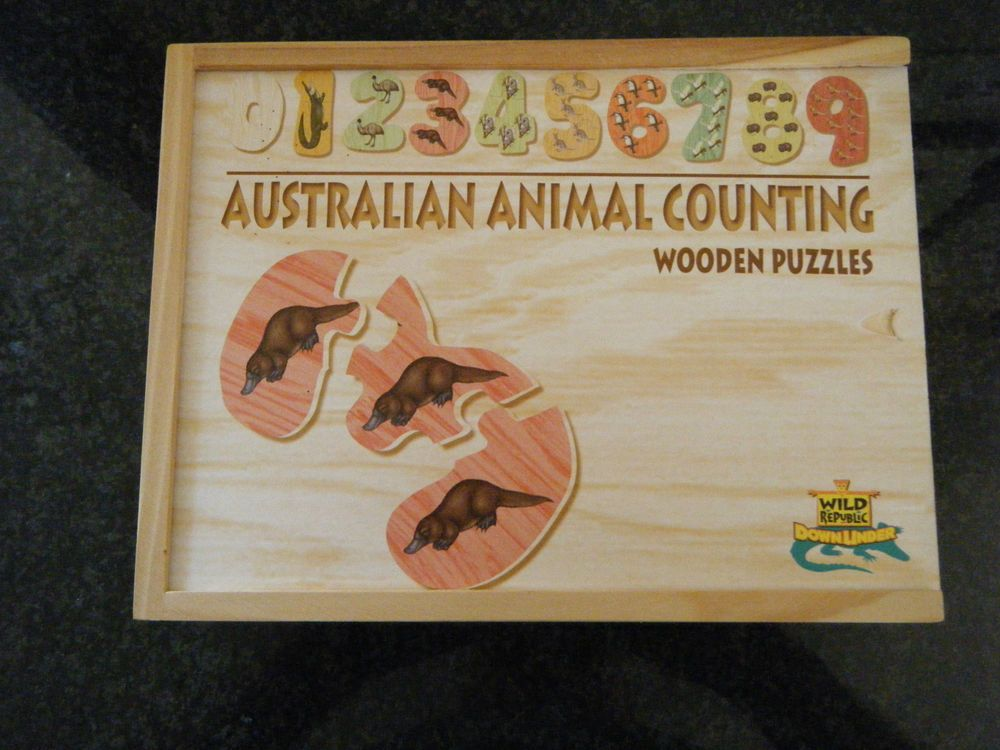 Australia Animal Counting Wooden Puzzle